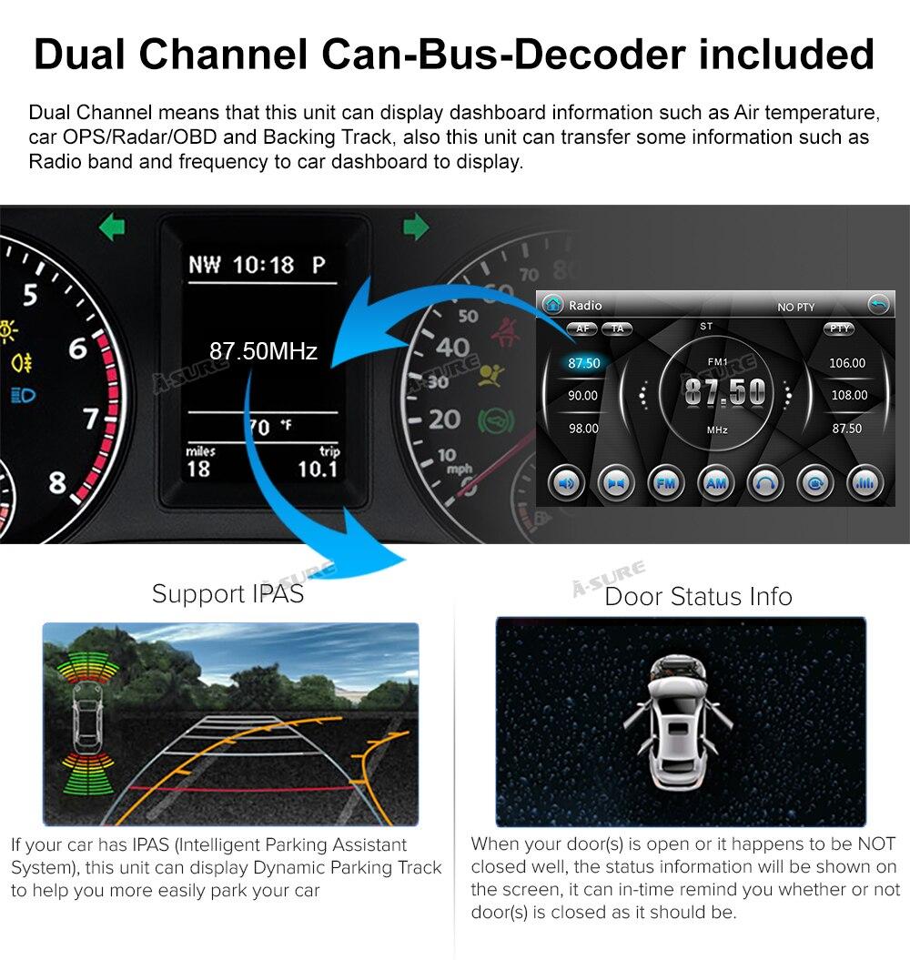 WIN CE VW 2 Din GPS DVD Golf Polo Passat B6 SEAT RDS DAB + 68