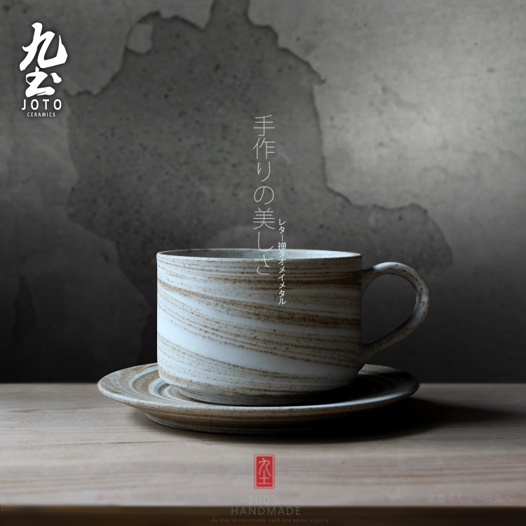 Japanese Tea Cups and Saucer Set Bone China Ceramic Coffee Cup with Handle High Quality Taza Desayuno Home Porcelain OO50BD