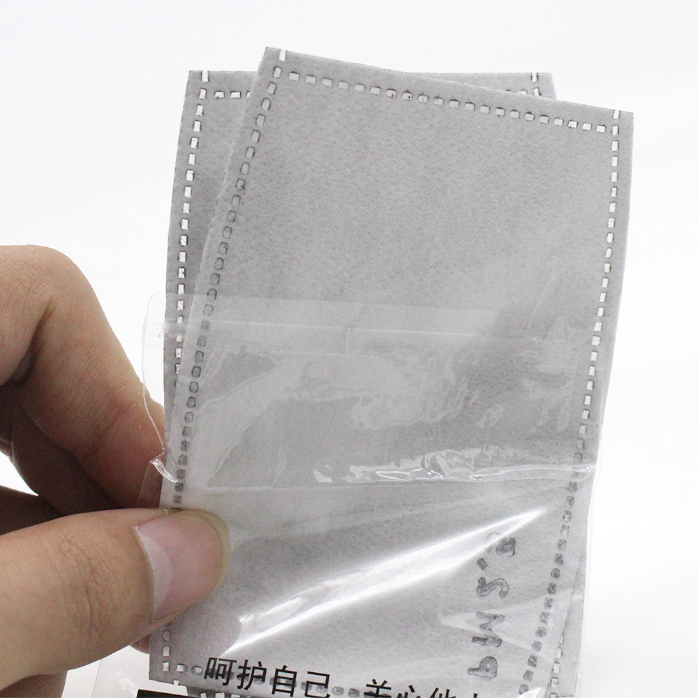 10Pcs(=5packs) Child Kids Activated Carbon Filter PM2.5 Mouth Mask Replaceable Filter-slice 5 Layers Non-woven 1