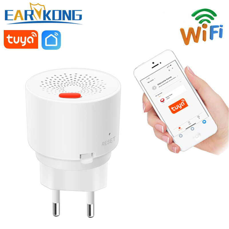 WIFI Gas Detector Combustible Household Smart Gas Alarm Sensor 2020 New Wifi Home Alarm System Tuyasmart   Smart Life APP
