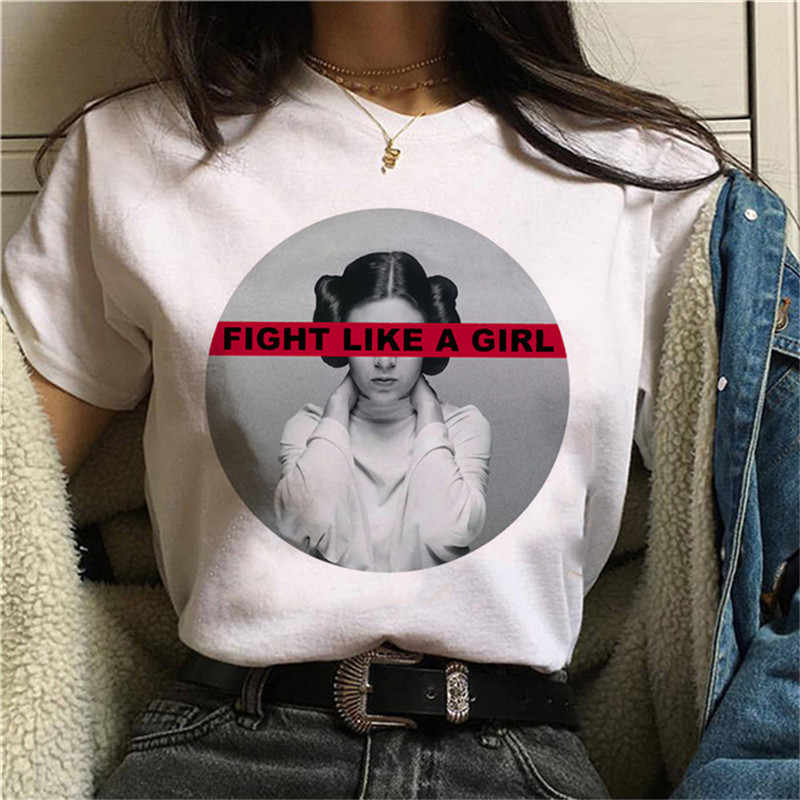 Luslos Nuovo Feminists Harajuku T Shirt Girl Power GRL PWR Ulzzang T-Shirt 90s Graphic Femminismo Tshirt Estetica Top Magliette femminile