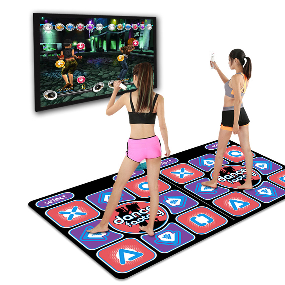 Family Entertainment Dance Mat, Wireless High-definition Connection For All TV Dance Mats, Thick Yoga Mat Somatosensory Game Mat