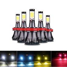 цена на 2pcs Car Fog Light Lamp LED H3 H8 H11 9005 HB3 HB4 9005 9006 H27 880 881 6000K White 3000K Amber Yellow Fog Lights Bulbs Lamps