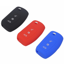 цена на Car Silicone Remote Key Fob Cover For Ford Focus Fiesta C Max Ka 3 Buttons No Logo