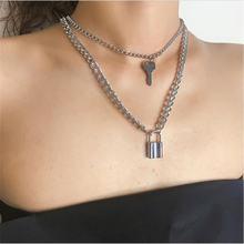 2021 модное ожерелье с замком для ключей женщин золотого цвета