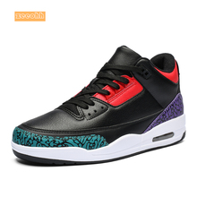 Mix Color Men's Large Size Basketball Shoes Non-Slip Shock S