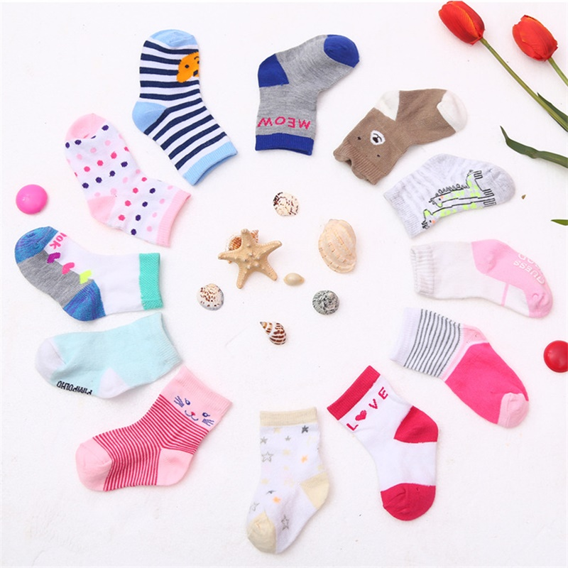 1 USD 2 Pairs Of Baby Cotton Socks Free Shipping 0-1-3 Year Old Baby Socks Autumn And Winter Children Socks