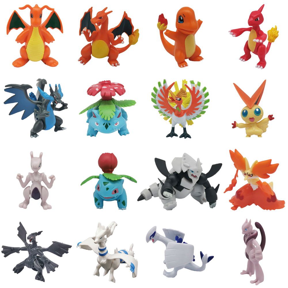 TAKARA TOMY 6-8cm Cartoon Charizard Aggron Mewtwo Dragonite Ivysaur Venusaur Charmeleon Pikachu Pokemons Figures Figure Toys