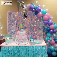 Mermaid Party Supplies Tail Balloon Garland Set Cake Topper Birthday Arch Tool Kit for Girls