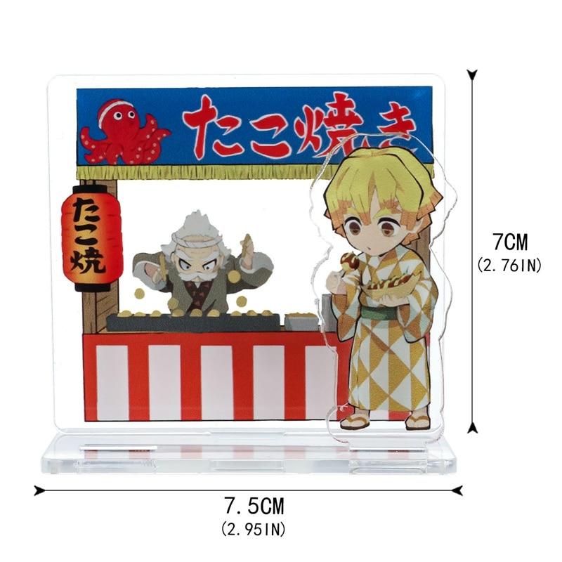 Cartoon Anime Demon Slayer Character Kimetsu No Yaiba Hashira Giyuu Muichirou Shinob Acrylic Stand Figure Model Desk Decor
