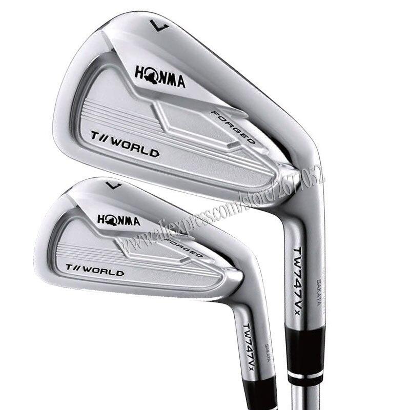 Nouveaux Clubs de Golf HONMA TW747 Vx fers de Golf 4-11 Clubs fers ensemble Graphite et acier arbre R ou S Golf arbre Cooyute livraison gratuite