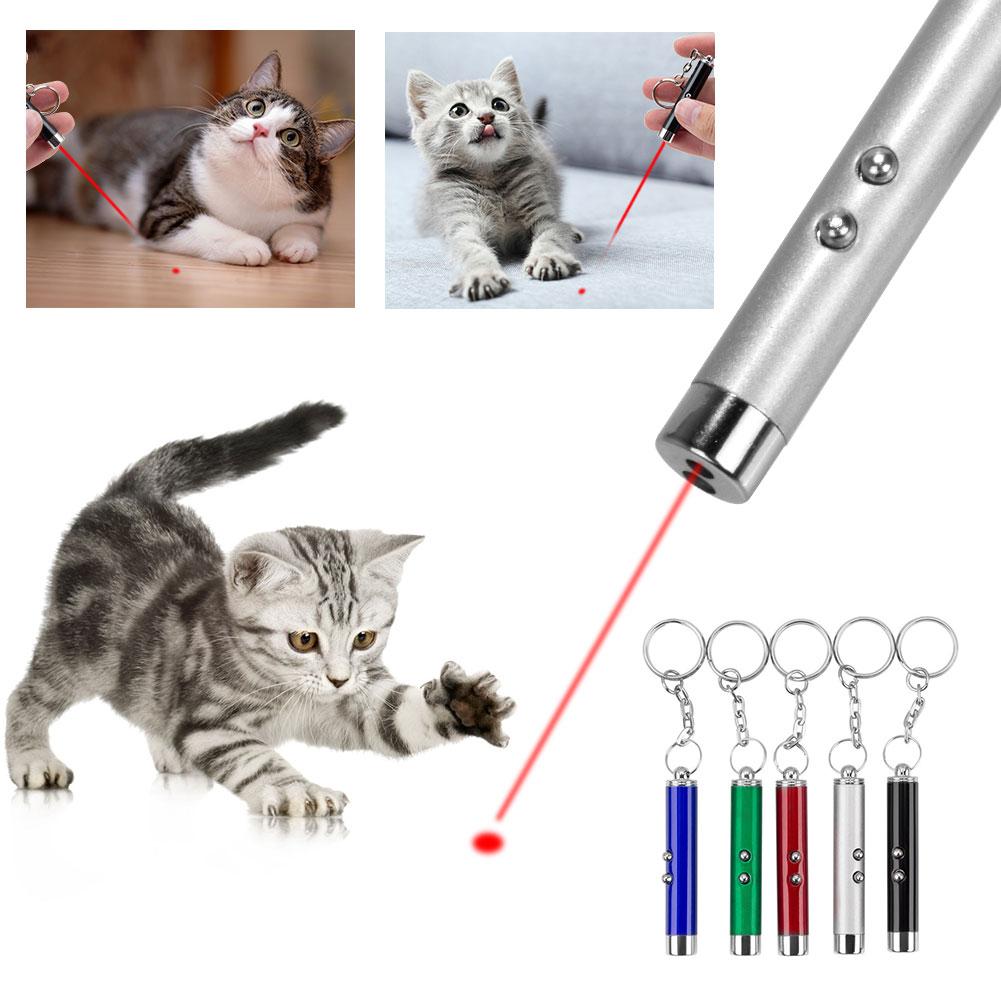 Брелок светодиодной лазерной указкой кошка игрушка лазер указатель светильник ручка интерактивная игрушка лазерная указка для работы для ...