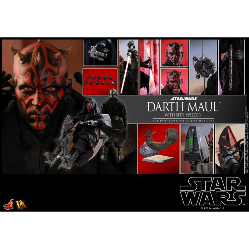 Hot Toys DX17 1/6 Scale Star Wars Darth Maul The Phantom Menace Male Solider Figure Accessories Collection Toys Model w/Aircraft