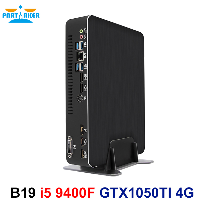 Partaker B19 Gaming Computer I5 9400F GTX1050TI 4GB Dedicated Card DDR4 Mini PC Windows 10 Desktop PC 2*HDMI 2.0 1*DP 1*DVI