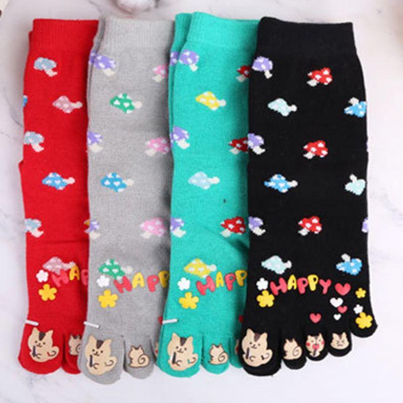 Cotton long tube Japanese cotton breathable sweat deodorant toe socks hot