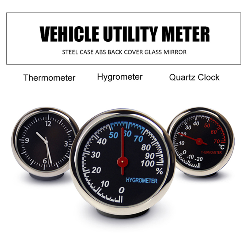 Automobile Digital Clock Car Clock Auto Watch Thermometer Hygrometer Decorative Clock In Car Accessories Car Electronics