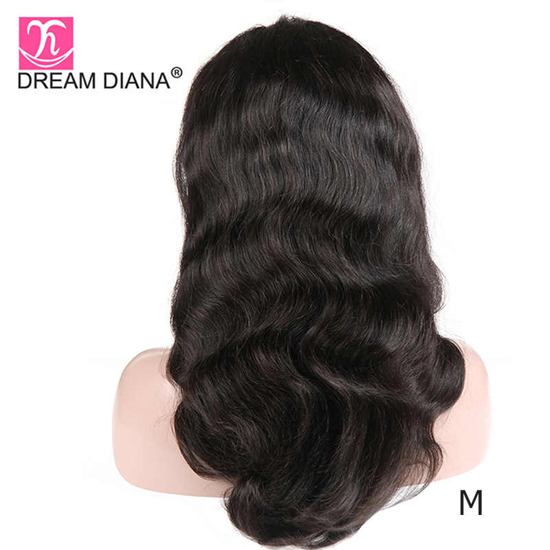 """DreamDiana brezilyalı vücut dalga tam dantel peruk Remy saç peruk tam dantel peruk 8-28 """"el yapımı 150 yoğunluk insan saçı tam dantel peruk M"""