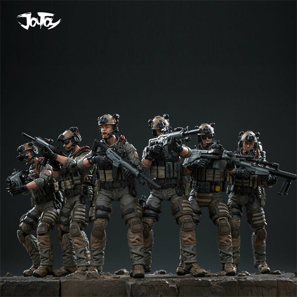 JOYTOY 1/18 US Navy Seal Commando Mini Action Soldier Toy 6pcs Figures JTDS008