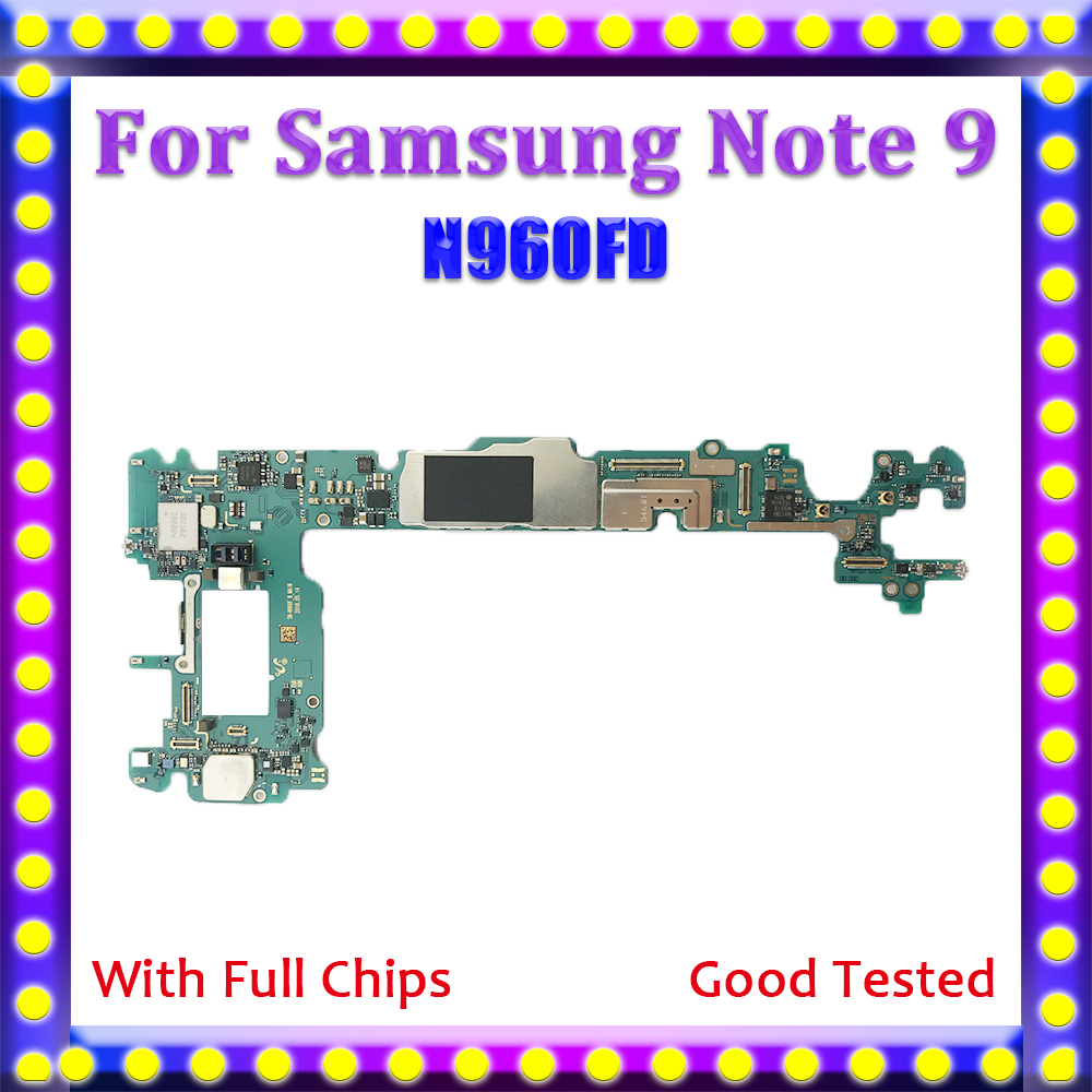 For Samsung Galaxy Note 9/Motherboard/N960fd/100%unlocked Logic-Board With Android