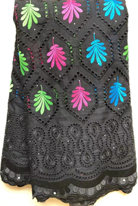 Image 3 - Saf pamuk tasarım İsviçre isviçre vual dantel taşlar ile afrika kuru dantel kumaş yüksek kaliteli nijeryalı düğün için HLL4570