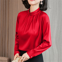 Korean Fashion Women Silk Shirts Satin Blouse Shirt Blusas Mujer De Moda Blouses Elegant Plus Size