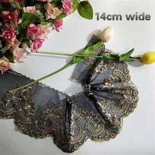 14cm Wide Exquisite Court Mesh Embroidery Tulle Lace Fabric DIY Skirt Cuff Dress Tablecloth Curtain Edge Sewing Trim Material буддийский сувенир buddha edge court