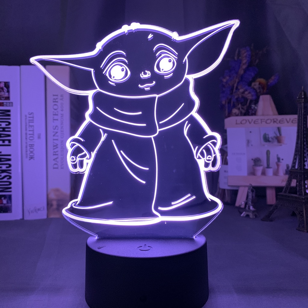 Star Wars Kids Night Light Baby Yoda Meme Figure Nightlight For Home Decoration Room Desk 3d Lamp Baby Night Light Mini Yoda