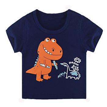 Koszulka dziecięca z krótkim rękawem bawełniane koszulki chłopięca koszulka dziecięca chłopięca i dziewczęca topy koszulka dziecięca tanie i dobre opinie inlovill COTTON CN (pochodzenie) Aktywny Zwierząt REGULAR O-neck Pasuje prawda na wymiar weź swój normalny rozmiar Unisex