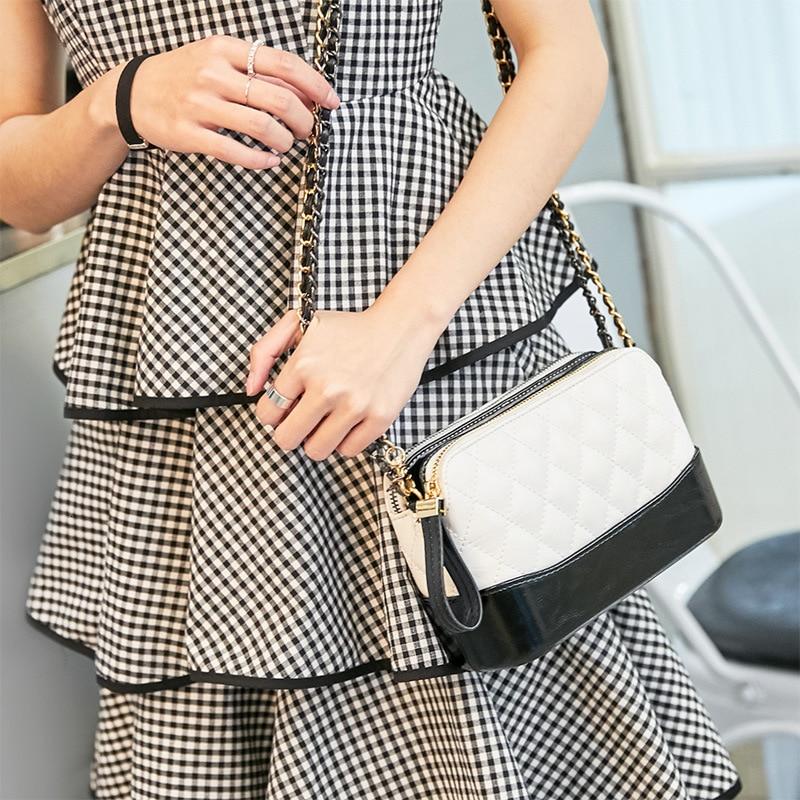 2019 женская сумка хит цвет маленький аромат пакет цепь Труба одно плечо Ins Tide Кроссбоди для нового дизайна корейский стиль