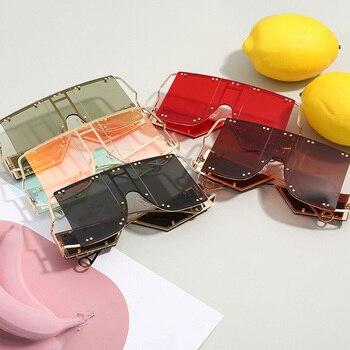 Oversized Mirror Square Sunglasses  5