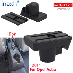 Image 2 - For Opel Astra Armrest Box Opel Astra H Car Armrest 2011 interior refitting accessories Storage box USB Easy to install