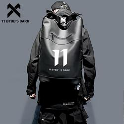 11 BYBB'S DARK Hip Hop Backpack Waterproof PU Multi-function School Computer Shoulder Bag Male Big Capacity Backpack Men Mochila