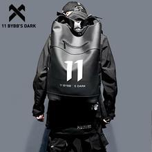 11 BYBB'S DARK Waterproof Hip Hop Backpack PU Multifunction School Computer Shoulder Bag