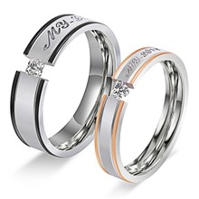 MINCN letter ring titanium steel couple bohemian ladies gold stainless fashion personality
