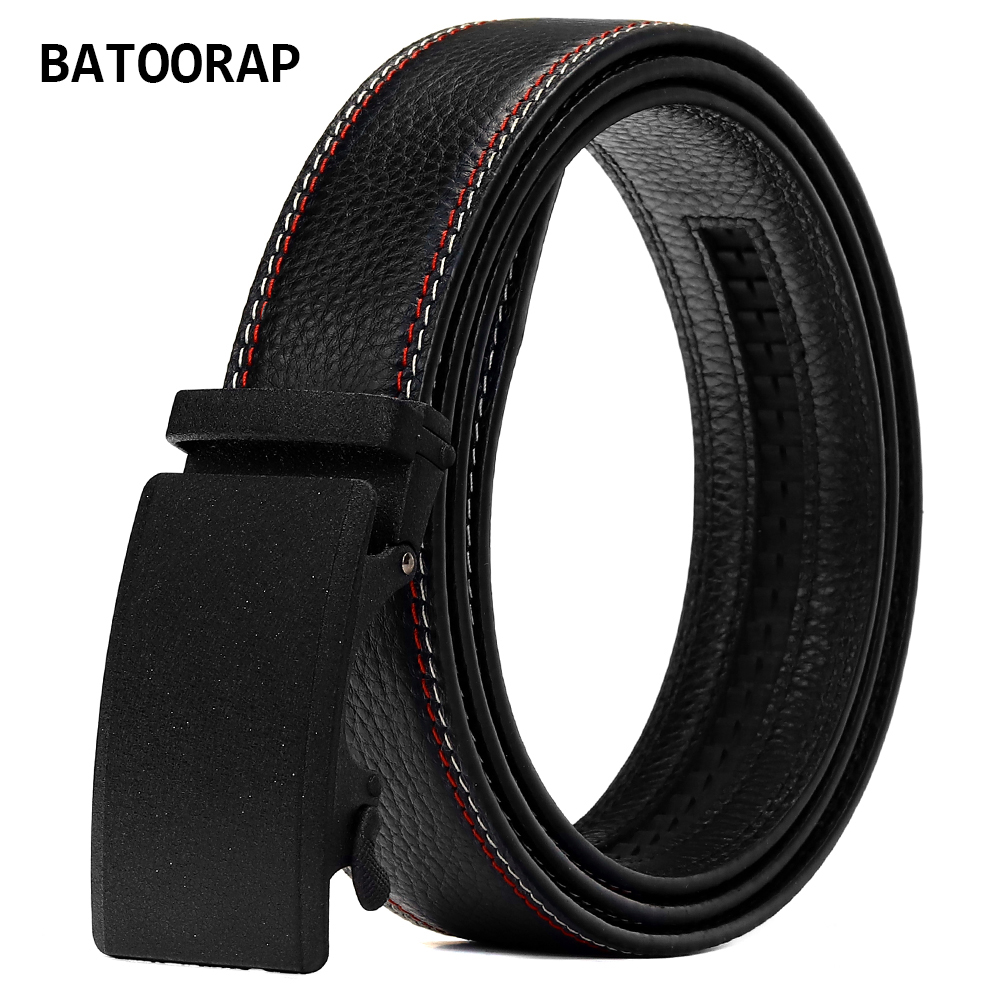 BATOORAP Top Quality Leather Belt For Men Alloy Automatic Buckle Casual Designer Jeans Waistband Z62P009