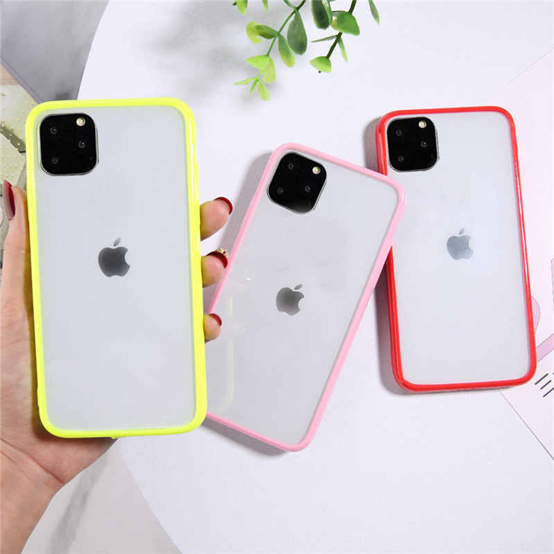 Moskado Transparent Shockproof Phone Case For iPhone 11 Pro Max X XR Xs Max Soft TPU Simple Clear Cover For iPhone 6 6s 7 8 Plus