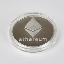 Ouro/prata/chapeado duplo ethereum moeda comemorativa eth coleção de moedas presente physicalantique imitação decoração para casa