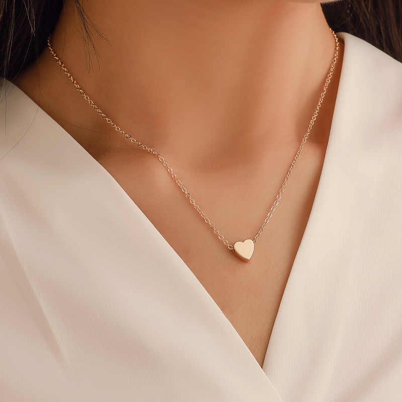Koreaanse kleine verse perzik hart ketting mini-loving glad driedimensionale hanger hoogwaardige vrouwen loving sleutelbeen keten