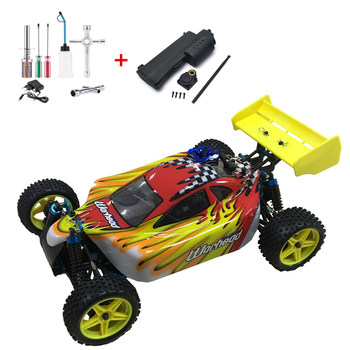 Free shipping HSP Baja 1/10 ratio nitro power off-road vehicle 4WD RC car 94166 and 18cxp engine speed 60-80KM/H 1