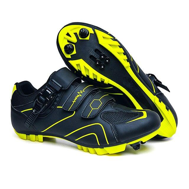Men mountain bike ciclismo sapatos unisex esporte ao ar livre profissional tênis de estrada sapata mtb hombre auto-travamento 4