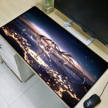 Laumans Besar 90X40 Cm XL Anime Seksi Penguncian Edge Tahan Air Mouse Pad Permainan Gamer Game Hatsune Miku Mousepad keyboard Mat(China)