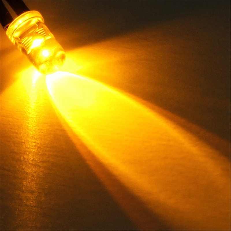 10 個 5 ミリメートル LED 12V 20 センチメートル事前有線白赤緑青黄紫 RGB は Diodo ランプの装飾発光ダイオード事前ハンダ付け