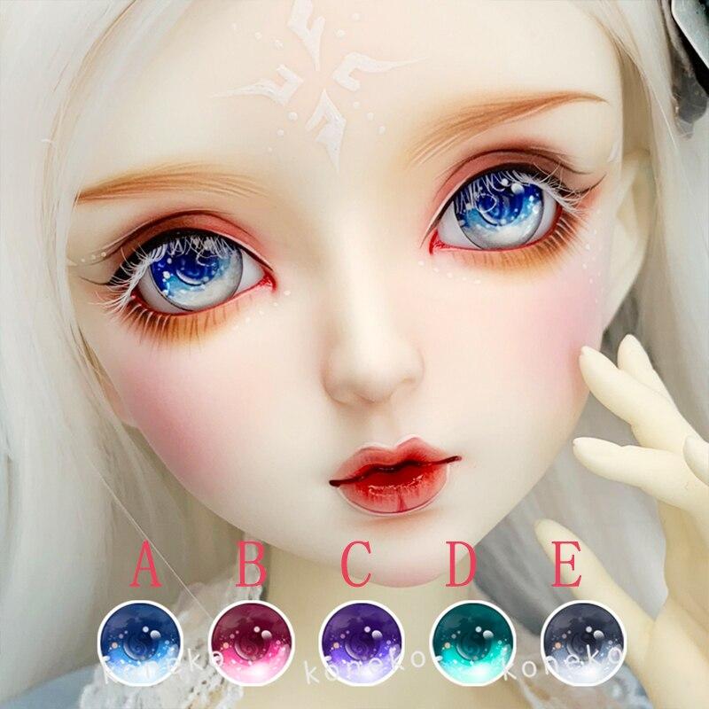 BJD Eyes 10mm-24mm Diameter Eyes Beautiful Cartoon Eyes For 1/8 1/6 1/4 1/3 BJD SD DD Doll Eyeballs Doll Accessories