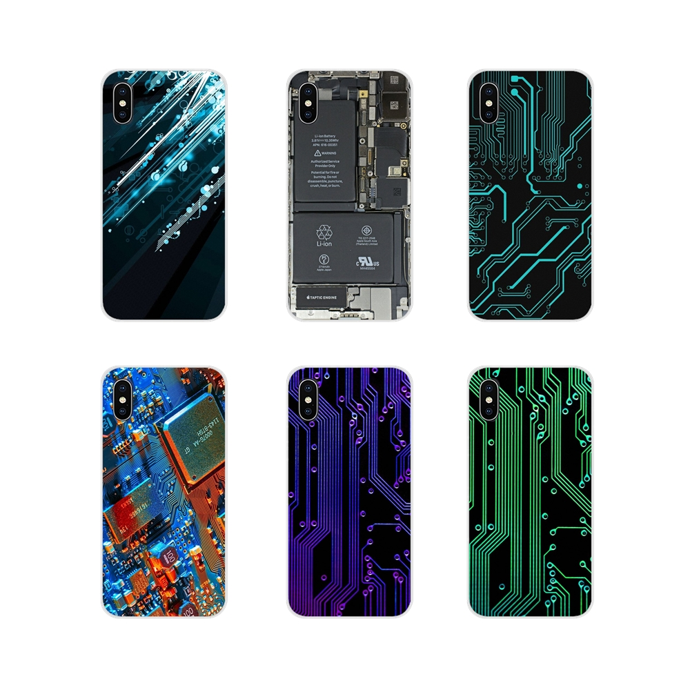 TPU Transparent Shell <font><b>Covers</b></font> For Xiaomi <font><b>Redmi</b></font> 4A S2 Note 3 <font><b>3S</b></font> 4 4X 5 Plus 6 7 6A Pro Pocophone F1 Computer <font><b>Battery</b></font> Circuit Board image