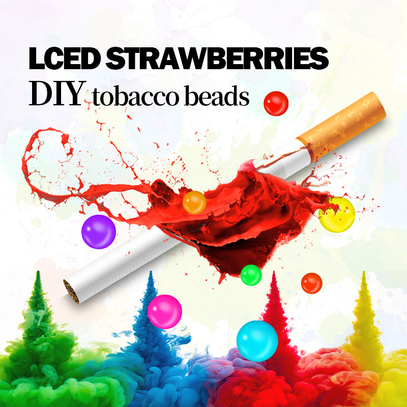 Купить 100 шт всасывающие бусины фильтры для сигарет держатель с фруктовым