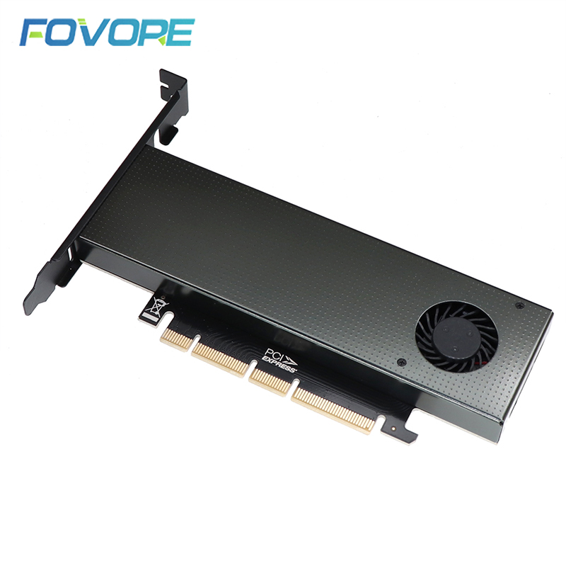 Pci-e M.2 Adapter B&m Key Pci-e To M.2 Adapter Nvme Ssd M2 Pcie Pci Express Converter Card For 2280 2260 2242 2230 With Fan Case