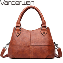 Brand Luxury Women Leather Handbags Designer Vintage Ladies Hand Bags