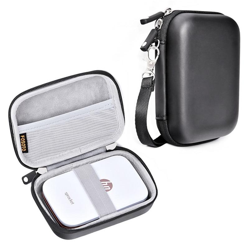 Fosoto Portable Case Shell Cover Travel Carrying Storage Bag For Polaroid ZIP Mobile Printer HP Sprocket Portable Photo Printer
