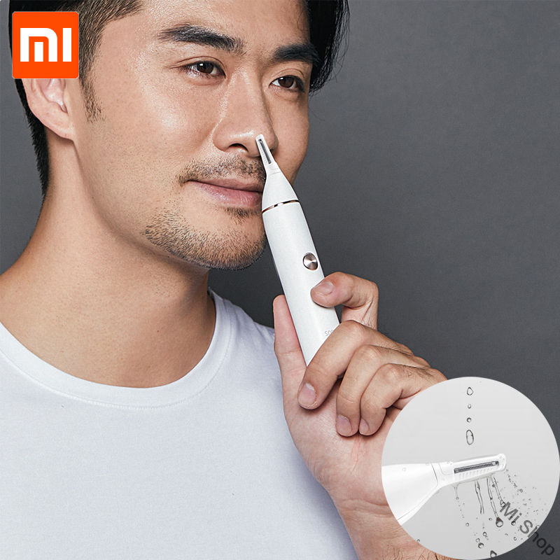 Original Xiaomi Mijia Soocas IPX5 waterproof Nose Hair Trimmer Eyebrow Clipper Sharp Blade Cordless Nasal Cleaner for Men women(China)