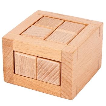 Leisure Toys Kids Adult Popular Wooden Prison Break Puzzle Magic IQ Brain Toy Intelligence Game Lock For Unisex